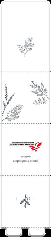 Bomboniera avana con foglie