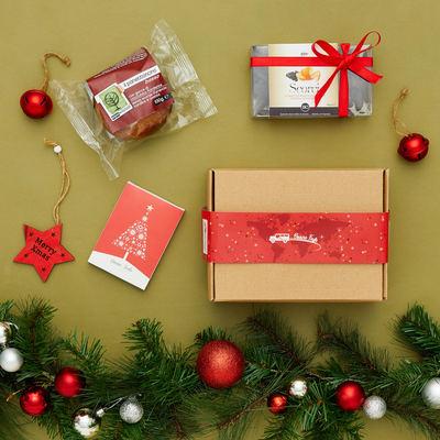Scatola di Natale MSF con panettone