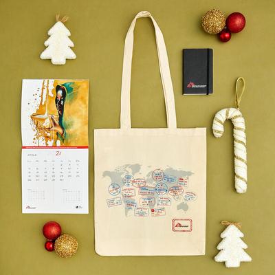 Kit regalo MSF: shopper, taccuino e calendario 2021