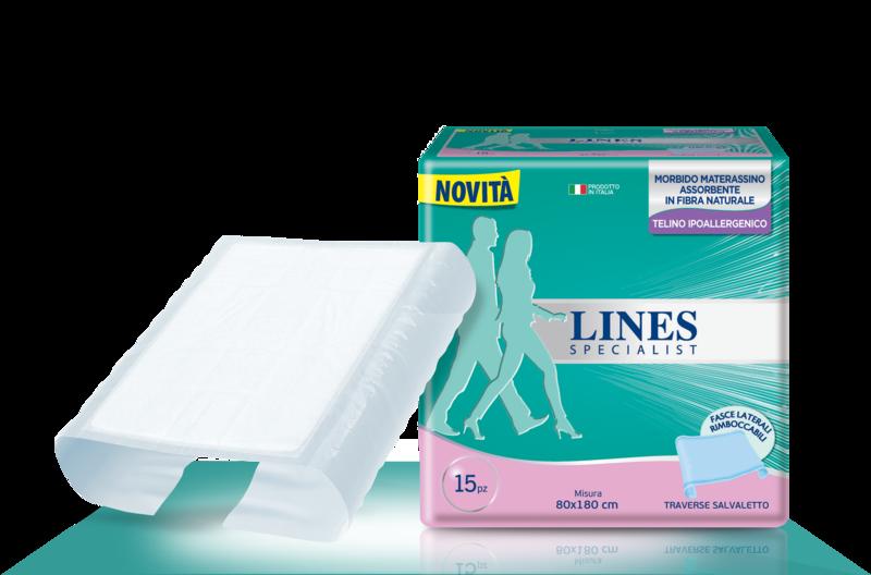Acquista online Lines Specialist Traverse 80x180Ultra Mini | Linea prodotto Traverse per uomo e donna. Lines Specialist, prodotti per perdite di urina Traverse 80x180