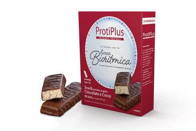 PROTIPLUS Shop - Prodotti proteici, Snack proteico al gusto Cioccolato e Cocco