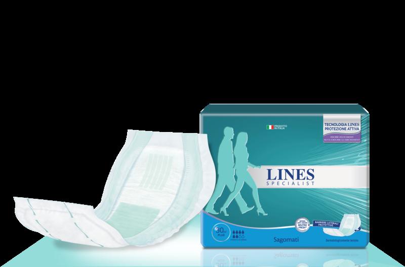 Acquista online Lines Specialist Sagomato Plus Ultra Mini | Linea prodotto Alte per uomo e donna. Lines Specialist, prodotti per perdite di urina Sagomato Plus