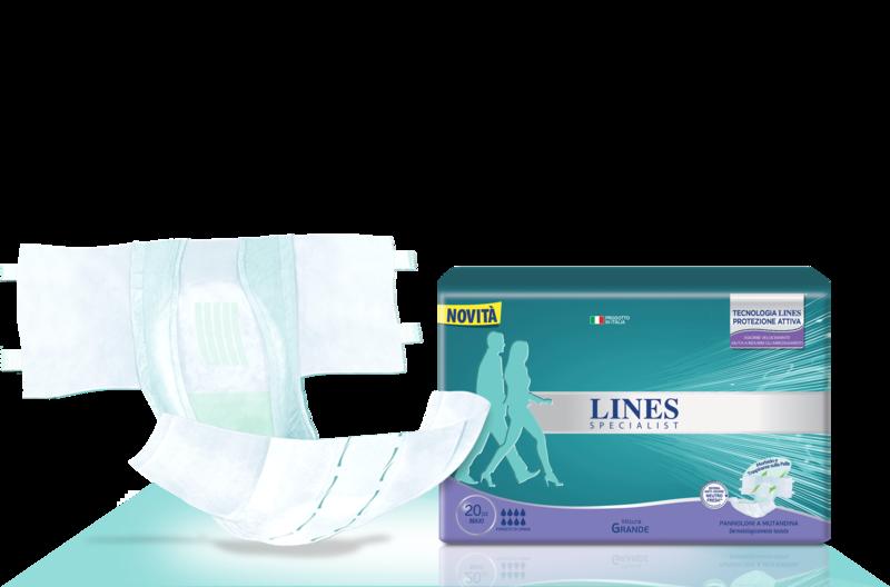 Acquista online Lines Specialist Pannolone a Mutandina MaxiUltra Mini | Linea prodotto Alte per uomo e donna. Lines Specialist, prodotti per perdite di urina Pannolone a Mutandina Maxi - Taglia grande