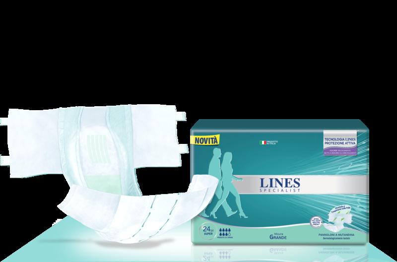 Acquista online Lines Specialist Pannolone a Mutandina Super Ultra Mini | Linea prodotto Alte per uomo e donna. Lines Specialist, prodotti per incontinenza Pannolone a Mutandina Super - Taglia grande