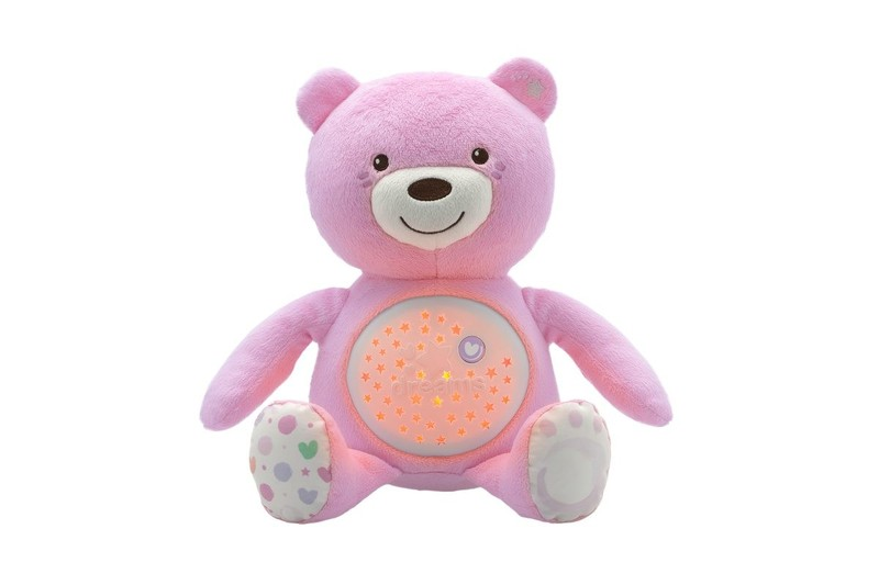 Ursinho Boa Noite Rosa