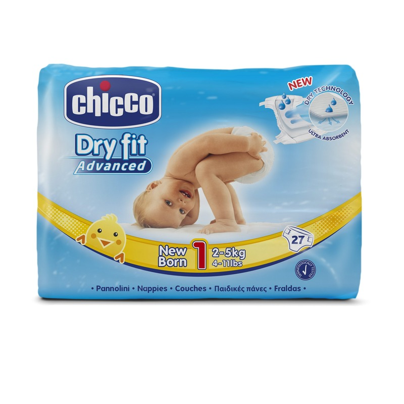 Fraldas Chicco Dry Fit Advanced T1 2-5kg