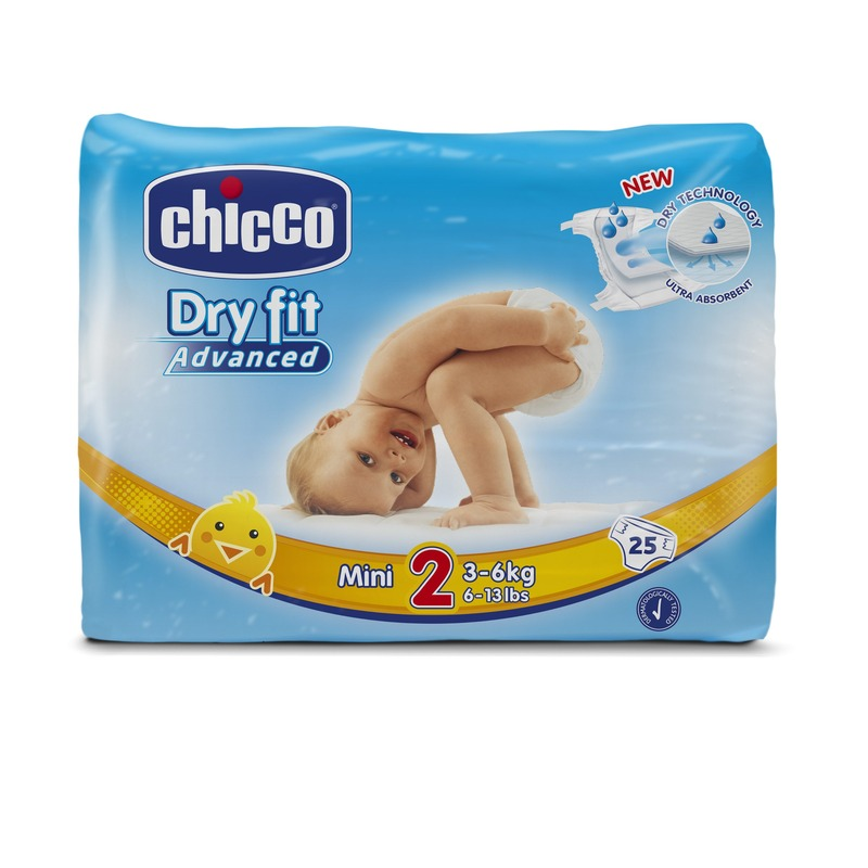 Fraldas Chicco Dry Fit Advanced T2 3-6kg (Pack pequeno)