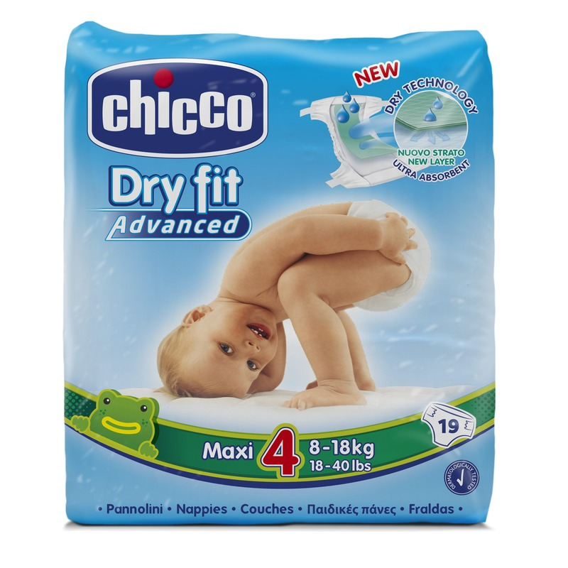 Fraldas Chicco Dry Fit Advanced T4 8-18 kg (Pack pequeno)