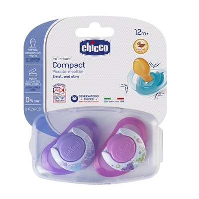 Chupetas Physio Compact Borracha Rosa
