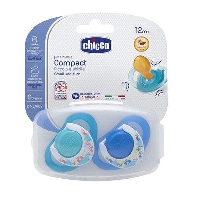 Chupetas Physio Compact Borracha Azul