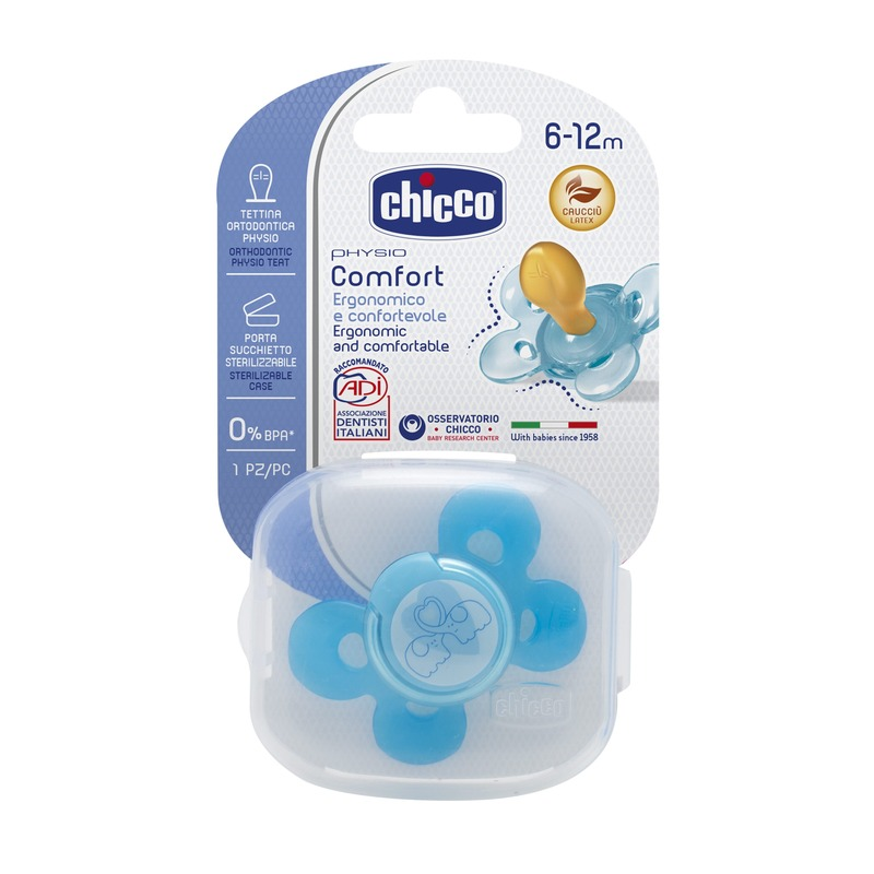Chupeta Physio Comfort Azul Borracha