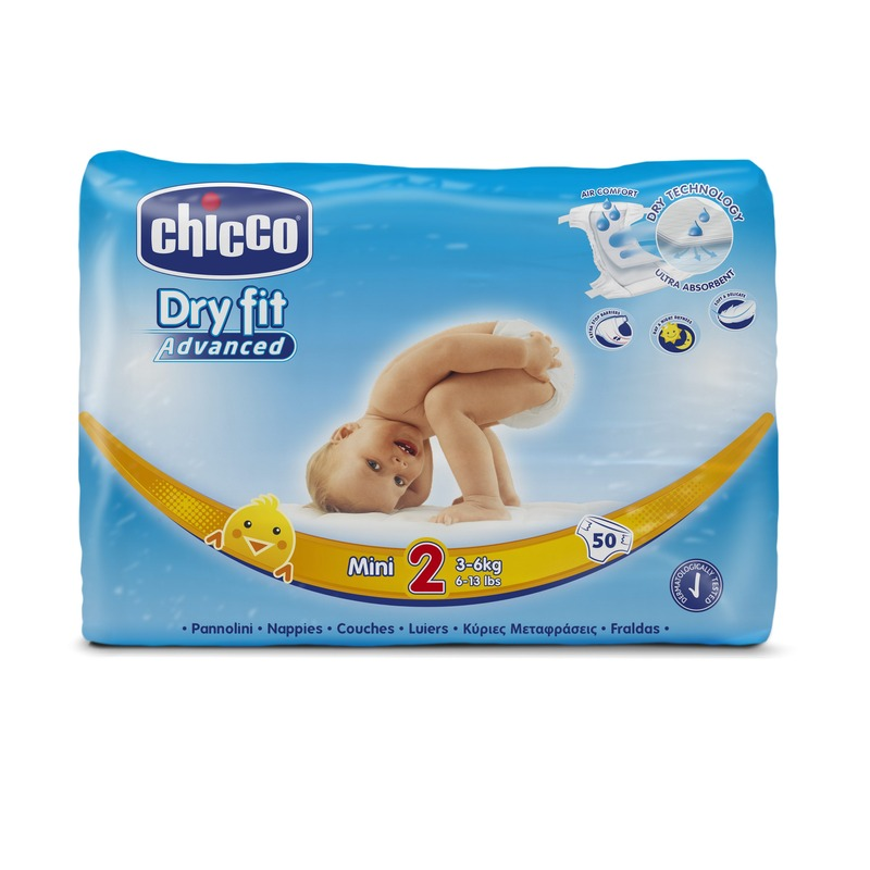 Fraldas Chicco Dry Fit Advanced T2 3-6kg(Pack grande)