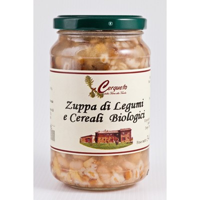 ZUPPA DI LEGUMI E CEREALI BIOLOGICI IN VASO